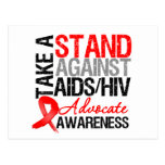Take a Stand Against AIDS HIV Post Cards
