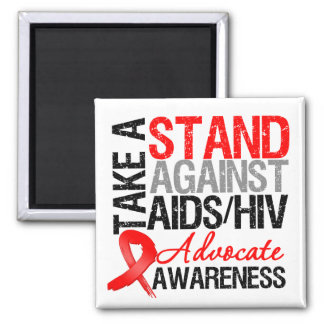 Take a Stand Against AIDS HIV Refrigerator Magnets