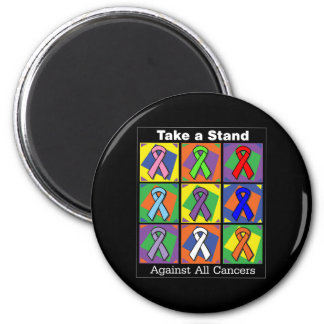 Take a Stand Against All Cancers 2 Inch Round Magnet