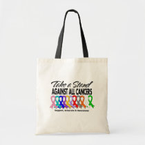 Take A Stand Against All Cancers Tote Bag
