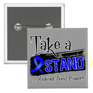 Take a Stand Against Anal Cancer 2 Inch Square Button