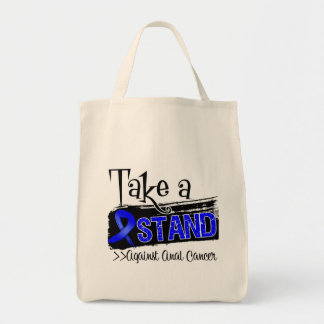 Take a Stand Against Anal Cancer Grocery Tote Bag