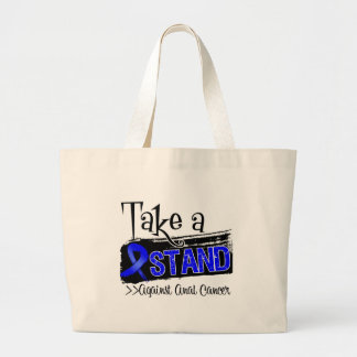 Take a Stand Against Anal Cancer Jumbo Tote Bag