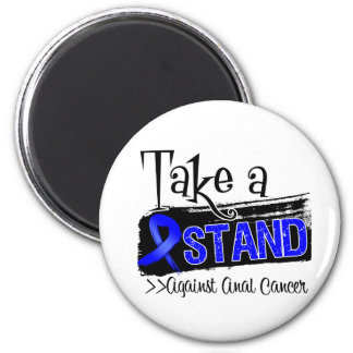 Take a Stand Against Anal Cancer 2 Inch Round Magnet