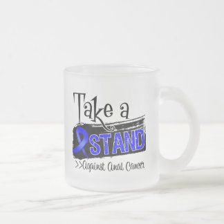 Take a Stand Against Anal Cancer 10 Oz Frosted Glass Coffee Mug