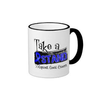 Take a Stand Against Anal Cancer Ringer Coffee Mug
