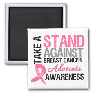 Take a Stand Against Breast Cancer 2 Inch Square Magnet