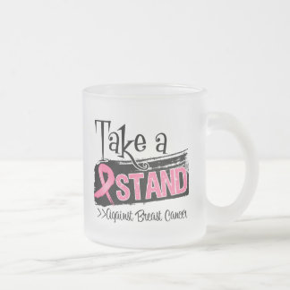 Take a Stand Against Breast Cancer 10 Oz Frosted Glass Coffee Mug