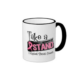 Take a Stand Against Breast Cancer Ringer Coffee Mug