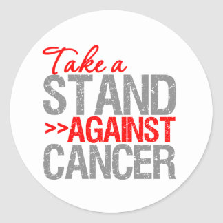 Take a Stand Against Cancer - Oral Cancer Round Stickers