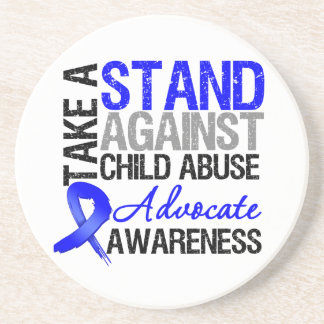 Take A Stand Against Child Abuse Coasters