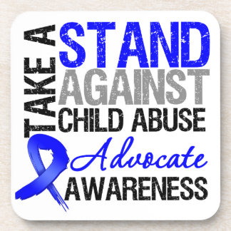 Take A Stand Against Child Abuse Beverage Coaster