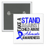 Take A Stand Against Child Abuse Pin