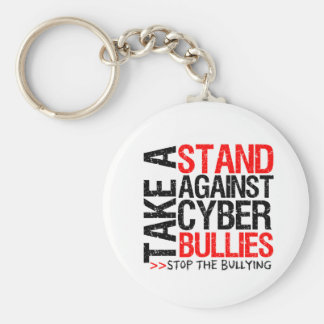 Take a Stand Against Cyber Bullies Basic Round Button Keychain