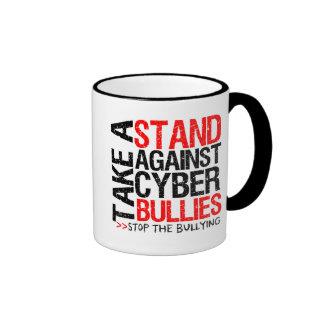 Take a Stand Against Cyber Bullies Ringer Coffee Mug