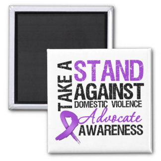 Take A Stand Against Domestic Violence 2 Inch Square Magnet