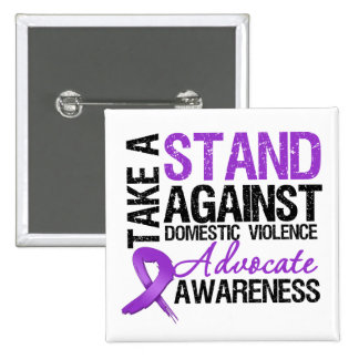 Take A Stand Against Domestic Violence 2 Inch Square Button