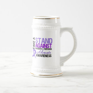 Take a Stand Against Hodgkin's Lymphoma 18 Oz Beer Stein