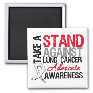 Take a Stand Against Lung Cancer Refrigerator Magnets