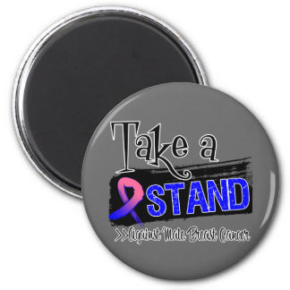 Take a Stand Against Male Breast Cancer Refrigerator Magnets