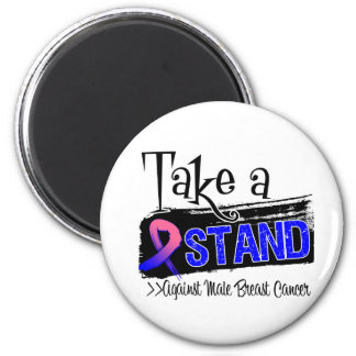Take a Stand Against Male Breast Cancer Refrigerator Magnet