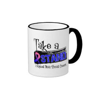 Take a Stand Against Male Breast Cancer Ringer Coffee Mug