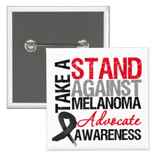 Take a Stand Against Melanoma Pinback Buttons