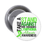 Take a Stand Against Non Hodgkin's Lymphoma Button