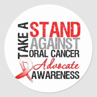 Take a Stand Against Oral Cancer Stickers