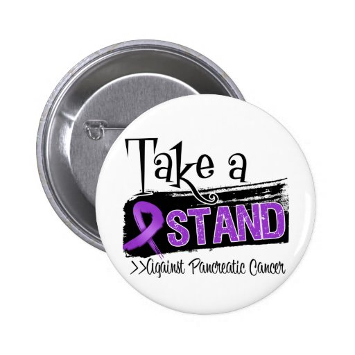 Take a Stand Against Pancreatic Cancer Pinback Button