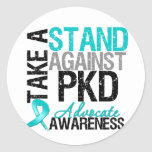 Take a Stand Against  Polycystic Kidney Disease Round Sticker