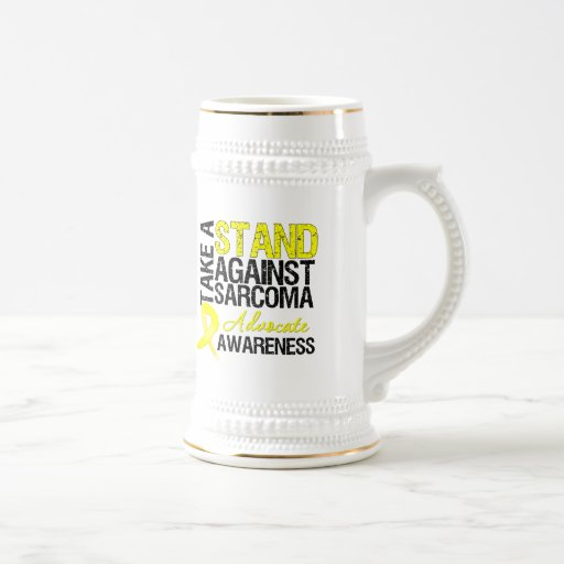 Take a Stand Against Sarcoma 18 Oz Beer Stein