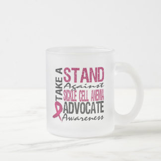 Take A Stand Against Sickle Cell Anemia 10 Oz Frosted Glass Coffee Mug