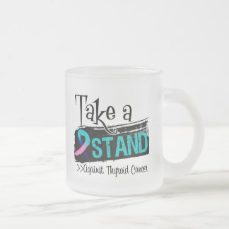 Take a Stand Against Thyroid Cancer Frosted Glass Mug