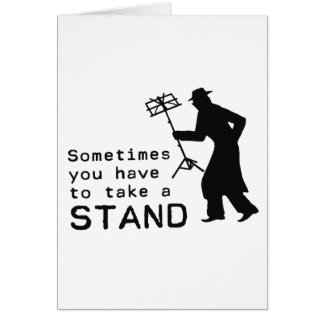 Take a Stand Greeting Card