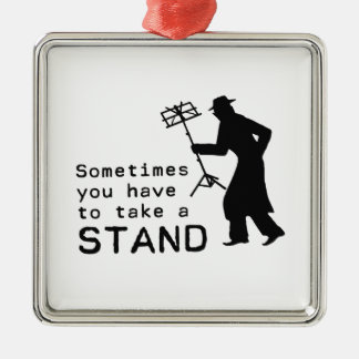 Take a Stand Metal Ornament