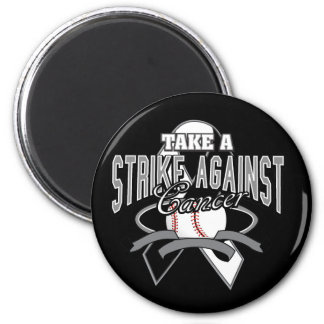 Take a Strike Against Carcinoid Cancer 2 Inch Round Magnet