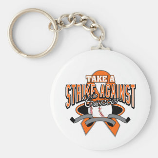 Take a Strike Against Leukemia Basic Round Button Keychain