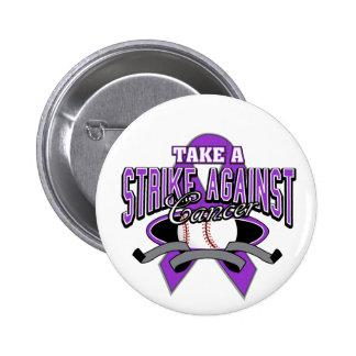 Take a Strike Against Pancreatic Cancer Pinback Button