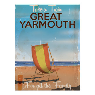 Take a Train to Great Yarmouth Holiday poster. Poster