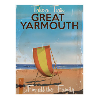 Take a Train to Great Yarmouth travel poster. Poster