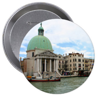 Take a trip down the Grand Canal in Venice 4 Inch Round Button