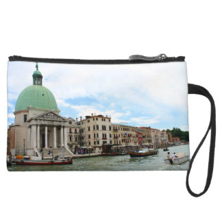 Take a trip down the Grand Canal in Venice Suede Wristlet Wallet