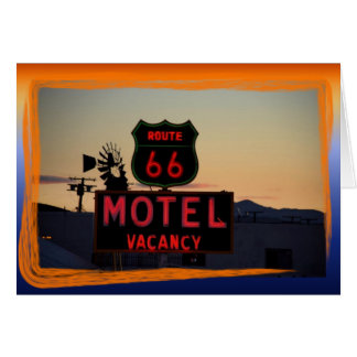 Take A Trip On Route 66 Card