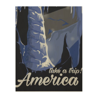 Take a trip See America vintage poster Wood Wall Art