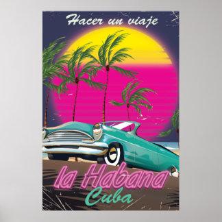 Take a Trip to Cuba reto 1985 poster