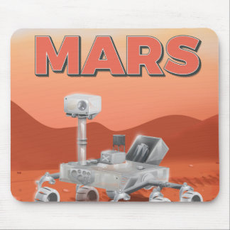 Take a Trip to Mars poster Mouse Pad