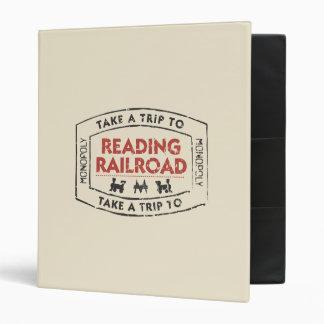 Take a Trip to Reading Railroad Vinyl Binders