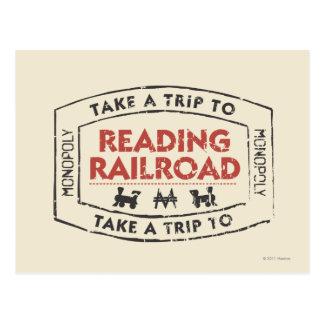 Take a Trip to Reading Railroad Postcard