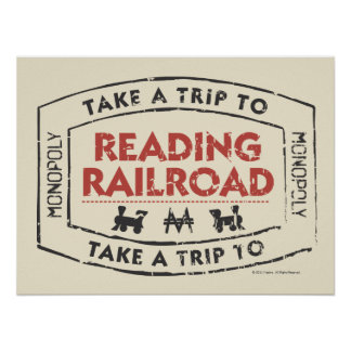 Take a Trip to Reading Railroad Poster